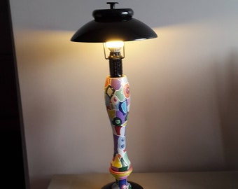 Lamp quite in color haud-paints