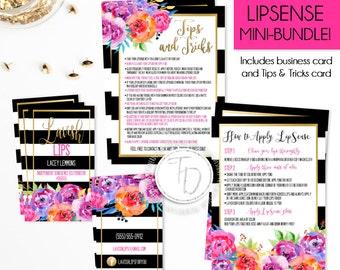 LipSense Business Card Printable, LipSense Branding Kit, LipSense Mini-Bundle, Floral Business Card, SeneGence Business Card, LipSense Kit