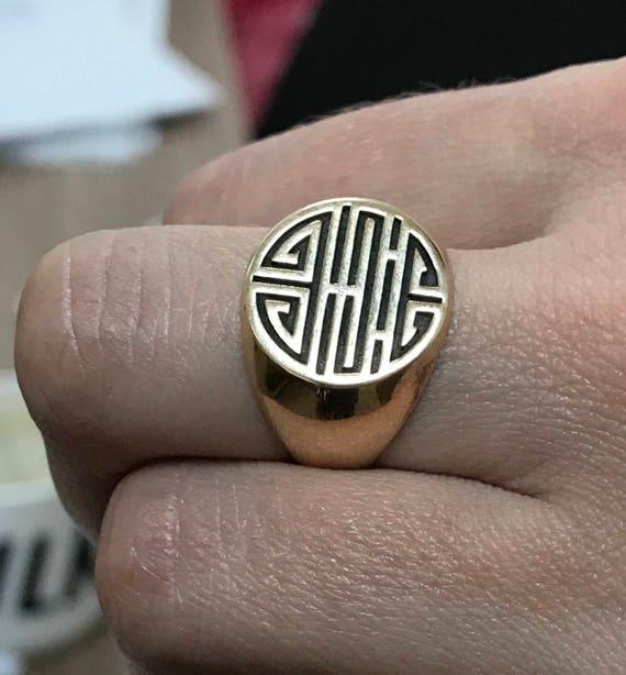 Longevity Ring Long Life Ring Shou Symbol Lotus Chinese Good