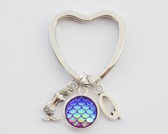 Mermaid Keychain, Mermaid Accessories, Mermaid Gifts, Mermaid Purse Charm, Mermaid Scale Key ring, Mermaid Jewelry, Mermaid Gifts for her