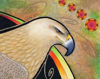 Tawny Eagle as Totem - Original Art