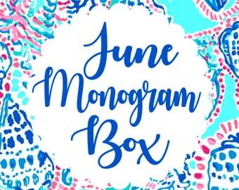 Monthly Monogram Box - June