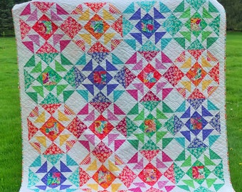PDF Quilt Pattern- Kaleidoscope Quilt Pattern by Jessica Dayon of Skein and Hook, #101 Kaleidoscope Quilt, quilt pattern, quilt pattern