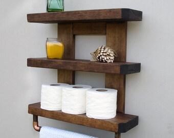 Bathroom Storage & Rustic Bathroom Shelves