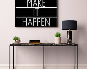 Make It Happen Print Light Box Typography Printable Poster 8x10 Downloadable Room Decor Digital File Instant Wall Art Quote Gallery  sc 1 st  Etsy & Rise and Shine Print Light Box Typography Printable Poster