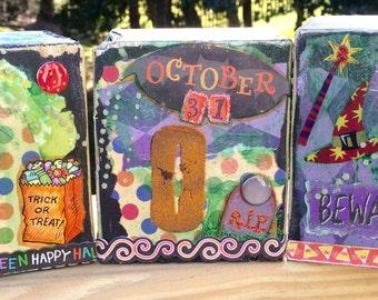 BOO Halloween Blocks, Cubes Decor
