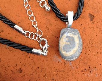 Hidden Serpent Pendant - Beach Rock - Snake Power Animal - Healing - Transformation Magick - Pagan - Witchcraft - Tribal - Earth Energy