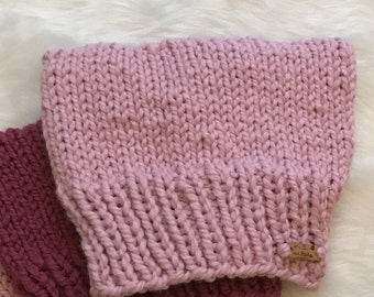 Pink Cat Hat, Knit Accessories