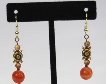 Harvest Orange and Gold Earrings