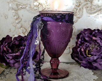 Hecate candle, Hekate, Triple Moon Goddess, Dark Goddess, Hecate Goblet