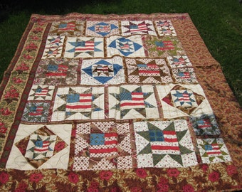 Stars and Flags Americana Quilt