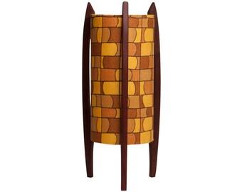Rocket lamp with vintage modernist fabric