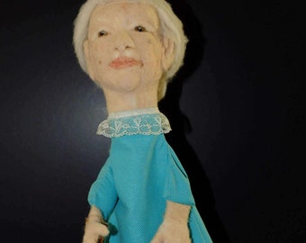 Beautiful elderly lady puppet Puppet Show Decoration