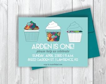 Arden Cupcake Birthday Invitation