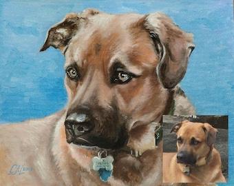 Commission pet portrait custom Dog portrait painting custom Pet memorial Dog portrait art Original oil painting on canvas art Pet|lover|gift