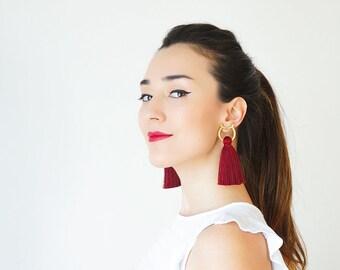 Mother Gift Stud Earrings Hoop Earrings Earring Studs Tassel Earrings Gold Hoop Earrings Stud Tassel Earrings Gold Stud Earrings/ OTTAVIA