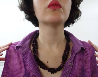 Fabric Pearls - purple and black pattern