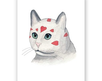 Valentine Cat Card