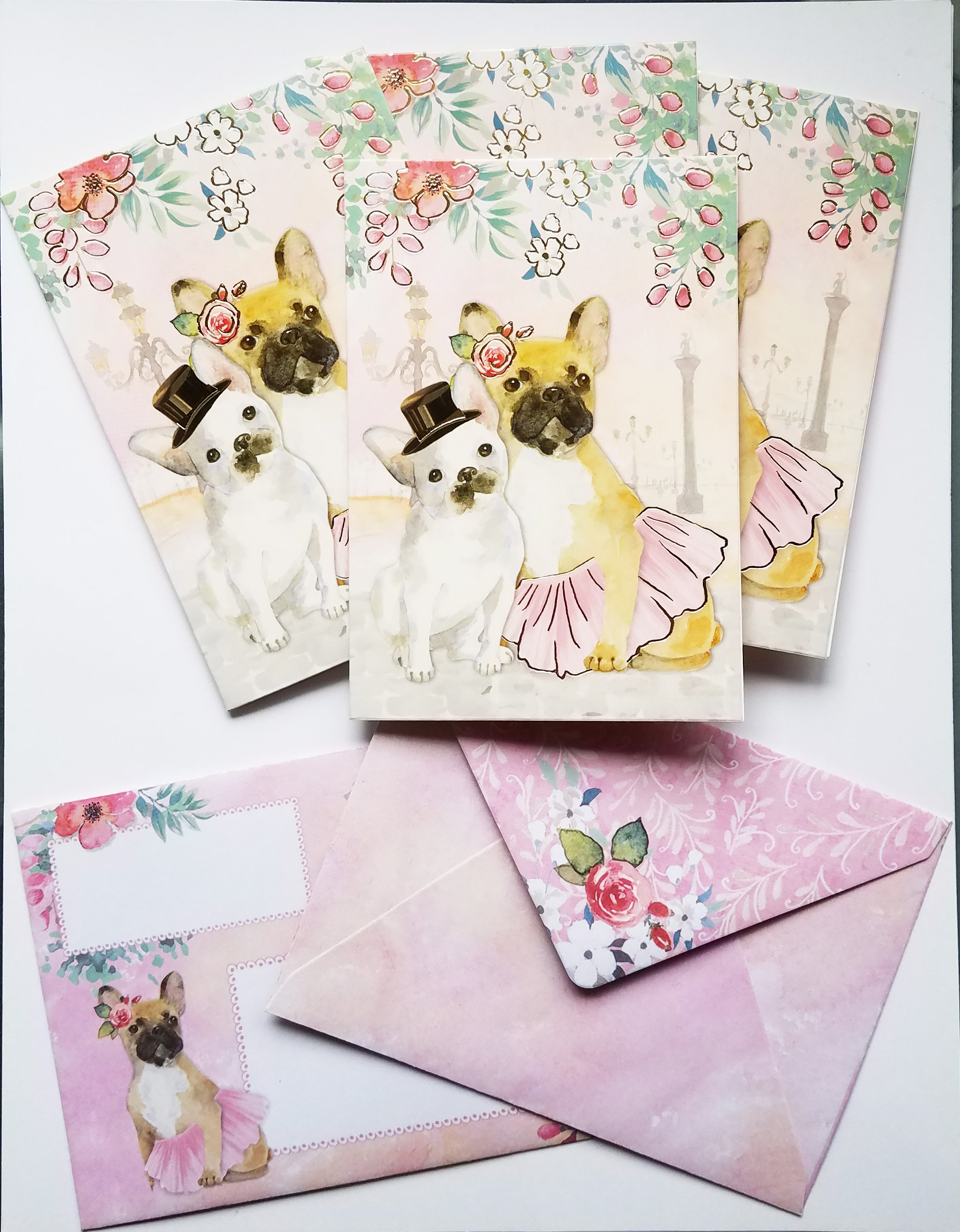 4 piece dog note cardsbull dogblank note cards by punch zoom m4hsunfo