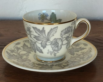 "Wedgwood ""Wildflower"" Demitasse Cup and Saucer - W D 3985"
