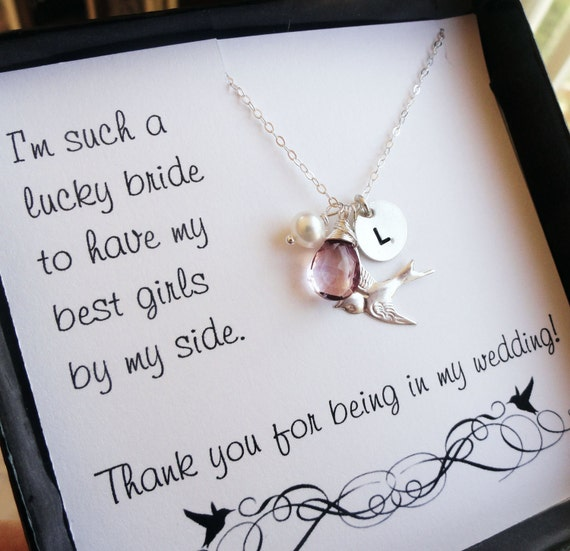 Wedding Gift Card Quotes: Items Similar To Bridesmaid Thank You Cards, Thank You For