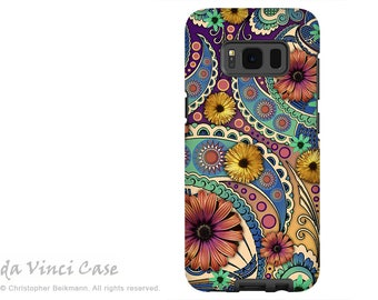 Case for Samsung Galaxy S8 - Colorful Paisley S 8 Case with Floral Art - Petals and Paisley - Premium S8 Dual Layer Case by Da Vinci Case