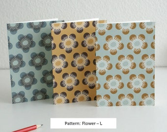 Flower card set by pattern
