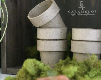 "Petite Paper Mache Pots 2"""