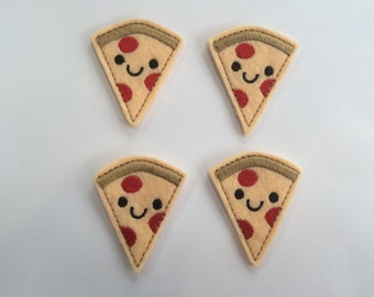 Pizza Embroidered Felt Applique