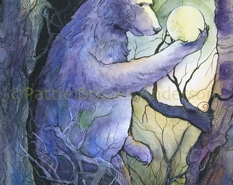 """Bear - """"Holding  the Moon"""", Signed Open Edition"""