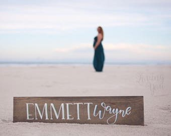 Last Name Wood Plank // Housewarming Gift // Wood Sign // Song Lyric Sign // Favorite Quote // Newborn Gift