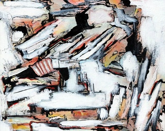 flume, acrylic, ink, pencil, canvas
