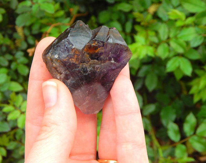 ELESTIAL Amethyst Cacoxenite 'Melodys Stone' - large high vibe natural gemstone - Reiki Wicca Pagan Geology