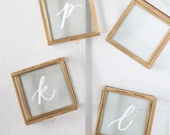 Personalized Glass Jewelry Box, Bridesmaid Gifts, Gold Jewelry Boxes, Gifts for Her, Gifts for Wife, Custom Calligraphy