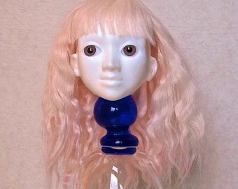 Alpaca Wig for Yo-sd, 6-7, pastel pink, wavy long.