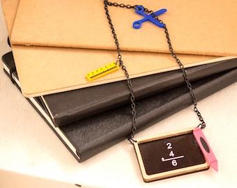Back to School Jewelry,Back to School Necklace,Lasercut Acrylic