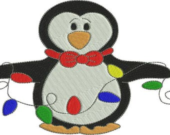 Christmas Penguins 1 Machine Embroidery Designs