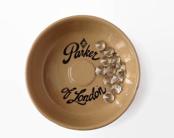 Parker of London Pipe Ashtray, Pearson's Stoneware, Made in England, Tobacciana, Gifts for Guys