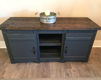Smaller TV console custom built / Rustic style tv stand / tv cabinet for man cave / farmhouse style small TV console