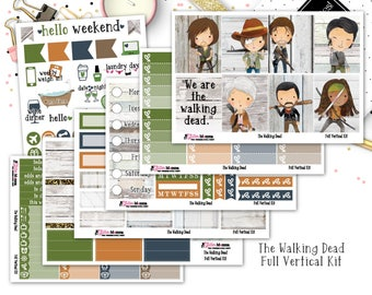 The Walking Dead | Fall Planner Kit | Full Weekly Vertical Kit | Erin Condren Vertical Planner