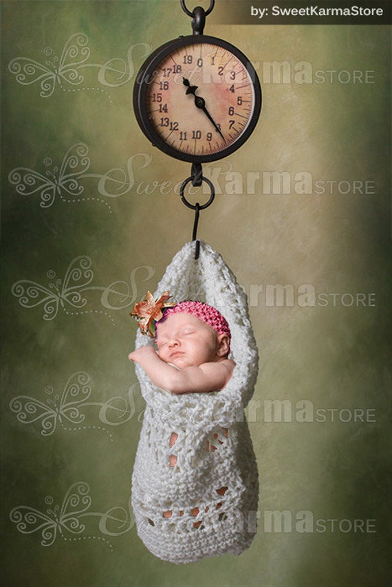 Newborn hanging scale editable weight digital photography