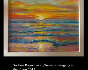 Gudrun Kopschewa, Abstract Oil painting on Canvas, 30x24cm UNIQUE