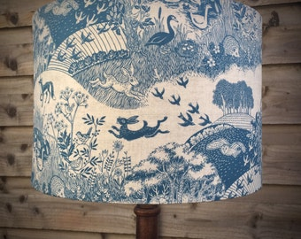 Go Wild in the Country Handmade Drum Lampshade