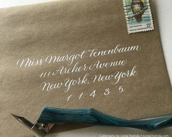 Calligraphy Envelope Addressing in Margot Script