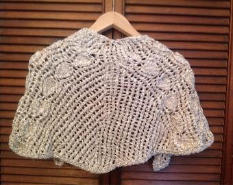 Small, cotton lace shawl