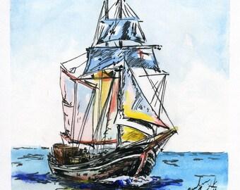 Tall Ship - Print