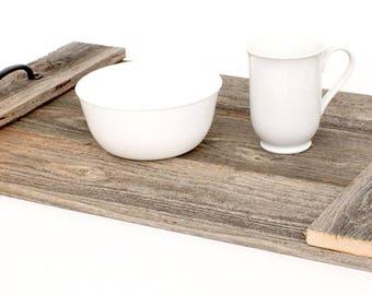 BanrwoodUSA | Decorative Farmhouse Wood Breakfast Coffee Table Tray - 100% Up-Cycled Reclaimed Wood