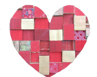 Heart Blocks Red Medium