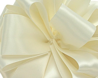 """Satin Ribbon, 1/4"""" wide, Antique White Double Sided - TWENTY YARD ROLL -  Offray  """"Antique White Color 28""""  No. 1 Double Face Satin  dfs"""