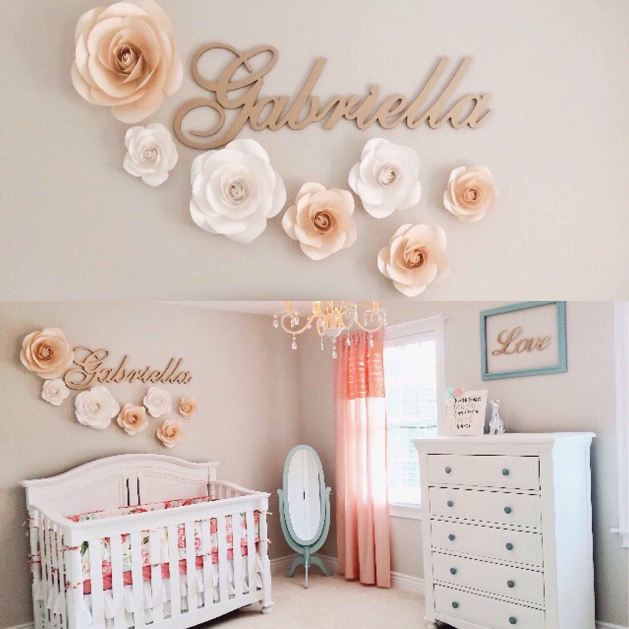 Large Paper Flowers Nursery Wall Decor Paper Flower Decor